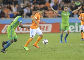 Houston Dynamo Forward Erick Torres #9 During a match between the Houston Dynamo vs Seattle Sounders FC