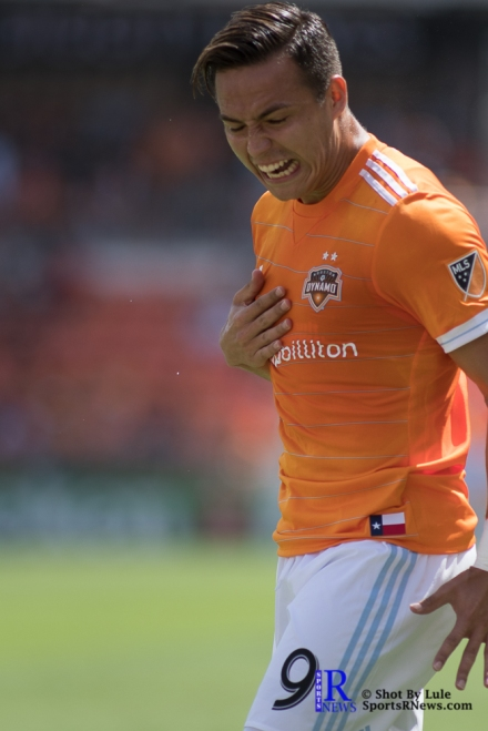 Houston Dynamo Forward Erick Torres #9 During a match between the Houston Dynamo vs San Jose Earthquakes, Goals from Houston Dynamo Forward Erick Torres #9and Houston Dynamo Forward Alberth Elis #17 Would earn the dynamo a win by a score of 2 to 0.April 22,2017 BBVA Compass Stadium