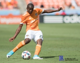 Houston Dynamo Midfielder Boniek Garc?a #27 During a match between the Houston Dynamo vs San Jose Earthquakes, Goals from Houston Dynamo Forward Erick Torres #9and Houston Dynamo Forward Alberth Elis #17 Would earn the dynamo a win by a score of 2 to 0.April 22,2017 BBVA Compass Stadium