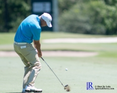 Tom Lehman takes his approach shot During the first round of the Insperity Invitational Golf Tournament, TPC The Woodlands.
