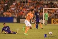 Houston Dynamo Forward Juan David Cabezas #5 During a match between the Houston Dynamo vs Orlando City SC,Week 10 of the MLS.Houston Tx.2017