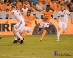 During a match between the Houston Dynamo vs Vancouver White Caps, Final Score Dynamo 2-Whitecaps 1,Week 11 of the MLS.Houston Tx, 2017