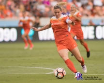 Houston Dash Forward Kealia Ohai #7 During a match between the Houston Dash vs Orlando Pride Final Score Dash 2,Orlando 4 ,Houston Tx, 2017.