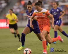 Houston Dash Forward Carli Lloyd #10 keeps the ball During a match between the Houston Dash vs Orlando Pride Final Score Dash 2,Orlando 4 ,Houston Tx, 2017.