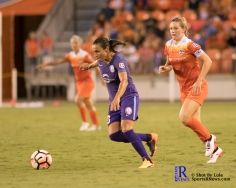 Orlando Pride Forward Marta #10 controls the ball During a match between the Houston Dash vs Orlando Pride Final Score Dash 2,Orlando 4 ,Houston Tx, 2017.