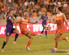 Houston Dash Defende Cari Roccaro #5 During a match between the Houston Dash vs Orlando Pride Final Score Dash 2,Orlando 4 ,Houston Tx, 2017.