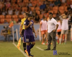 Orlando Pride Forward Marta #10 walks of the field During a match between the Houston Dash vs Orlando Pride Final Score Dash 2,Orlando 4 ,Houston Tx, 2017.