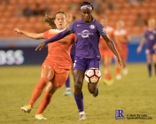 Orlando Pride Forward Chioma Ubogagu #6 During a match between the Houston Dash vs Orlando Pride Final Score Dash 2,Orlando 4 ,Houston Tx, 2017.