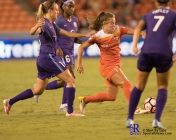 Houston Dash Midfielder Andressa #17 During a match between the Houston Dash vs Orlando Pride Final Score Dash 2,Orlando 4 ,Houston Tx, 2017.