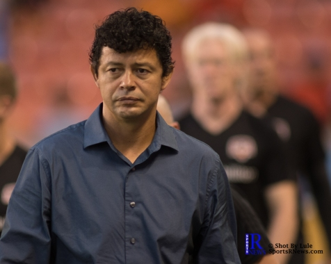 Houston Dynamo Head Coach Wilmer Cabrera Prior to a match between the Houston Dynamo vs Dallas FC,June 23,2017 Houston Tx.