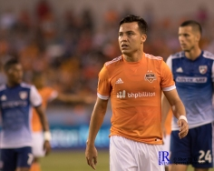 Houston Dynamo Forward Erick Torres #9 During a match between the Houston Dynamo vs Dallas FC,June 23,2017 Houston Tx.