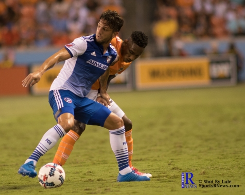 Houston Dynamo Forward Romell Quioto #12 During a match between the Houston Dynamo vs Dallas FC,June 23,2017 Houston Tx.