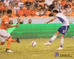 F.C Dallas Forward Maximiliano Urruti #37 scores and ties the game between the Houston Dynamo vs Dallas FC,June 23,2017 Houston Tx.