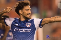 F.C Dallas Forward Maximiliano Urruti #37 celebrates after scoring During a match between the Houston Dynamo vs Dallas FC,June 23,2017 Houston Tx.